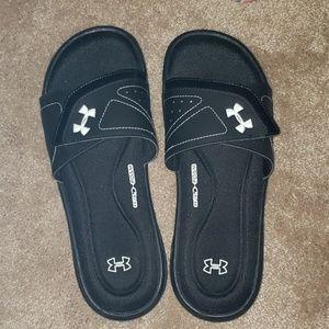 Black Under Armour 4D foam sandals